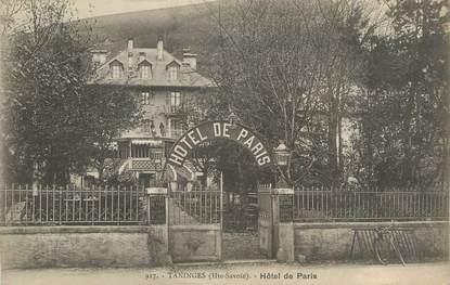 """.CPA  FRANCE 74 """" Taninges, Hôtel de Paris"""""""
