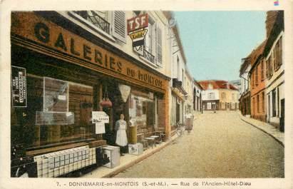 """CPA FRANCE 77  """"Donnemarie en Montois, rue de l'Ancien Hôtel Dieu"""""""