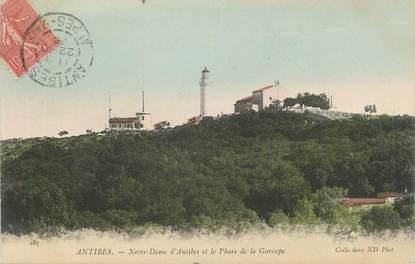".CPA FRANCE 06 ""Antibes, Notre Dame d'Antibes et la Garoupe"""