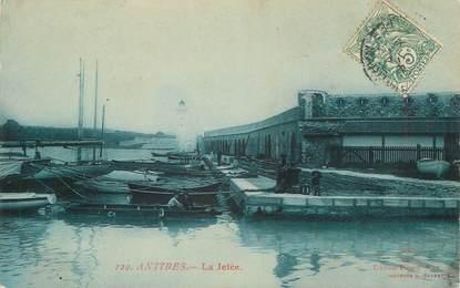""".CPA FRANCE 06  """"Antibes,  La jetée"""""""