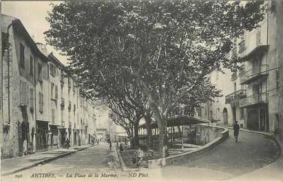 ".CPA FRANCE 06  ""Antibes, Place de la Marine"""