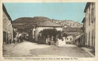 """.CPA FRANCE 12 """"Aguessac, Route de Paris et Route des Gorges du Tarn"""""""