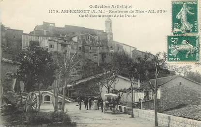 """CPA FRANCE 06 """"Aspremont, Café restaurant de la Poste"""""""