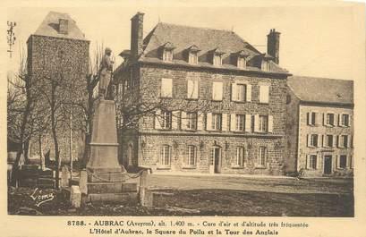 """.CPA FRANCE 12 """"Aubrac, Square du poilu et tour des Anglais"""""""