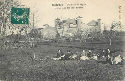 ".CPA FRANCE 12 "" Conques, Château des Saptes"""