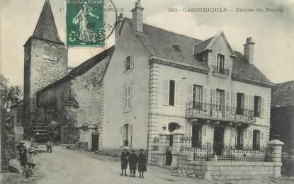 """.CPA FRANCE 12 """" Cassuejouls, Entrée du bourg"""""""