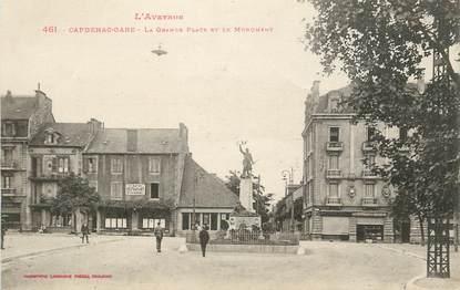 """.CPA FRANCE 12  """"Capdenac -Gare, Grande place et le monument"""""""