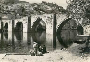 """.CPSM FRANCE 12 """"'Entraygues, Pont gothique sur la Truyère"""""""