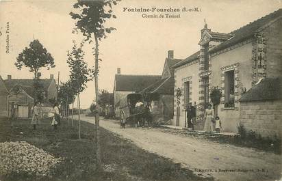 "CPA FRANCE 77  ""Fontaine Fourches, Chemin de Trainel"""