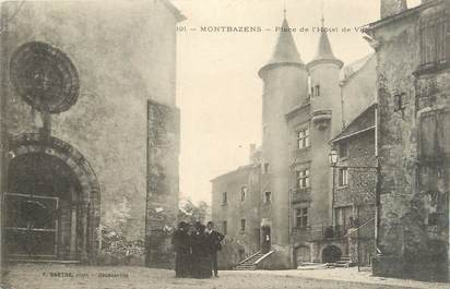 """.CPA FRANCE 12 """"Montbazens, Place de l'Hôtel de Ville"""""""