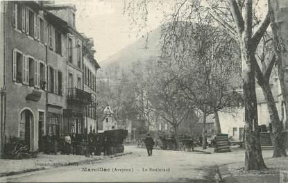 """.CPA  FRANCE 12 """"Marcillac, Le boulevard"""""""