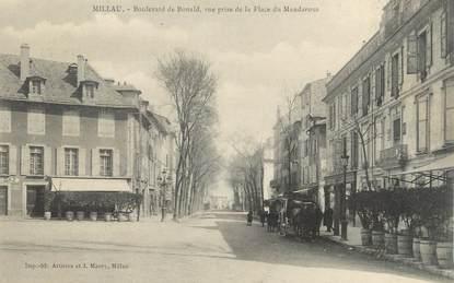 ".CPA  FRANCE 12 ""Millau, Boulevard de Bonald"""
