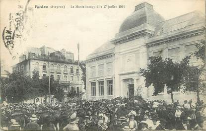 """.CPA FRANCE 12 """"  Rodez, Le musée inauguré le 17 juillet 1910"""""""