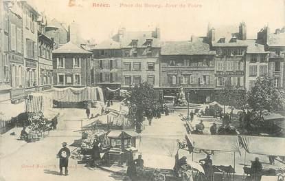 """.CPA FRANCE 12 """"  Rodez, Place du bourg jour de foire"""""""