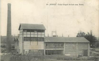 """.CPA FRANCE 12 """"  Rodez, Usine d'esprit de bois"""""""