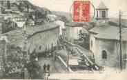 """12 Aveyron .CPA FRANCE 12 """"  Roquefort, Place de l'église"""""""