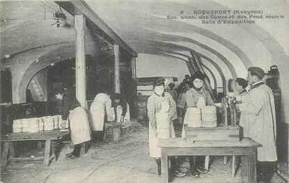 """.CPA FRANCE 12 """"  Roquefort, SA des Caves et Producteurs réunis, salle d'expédition"""""""
