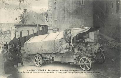 """.CPA FRANCE 12 """"  Roquefort, SA des Caves et Producteurs réunis, transport des fromages"""""""