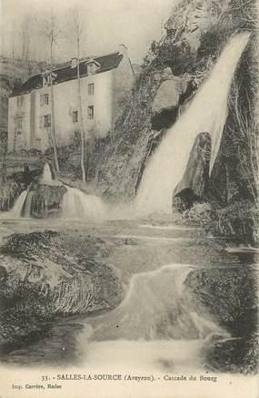 """.CPA FRANCE 12 """"  Salles la Source, Cascade du Bourg"""""""