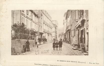 ".CPA FRANCE 12 ""  St Sernin sur Rance, Rue du fort"""