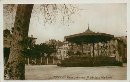 """CPA  FRANCE 83 """"Toulon, Place d'Armes et le kiosque"""""""
