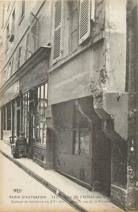 """CPA  FRANCE 75004 """"Paris, d'Autrefois, rue de l'Hotel de ville"""""""