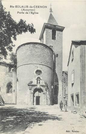 ".CPA FRANCE 12 ""  Ste Eulalie de Cernon, Porte de l'Eglise"""