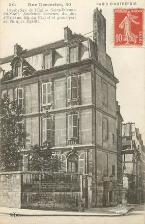 """CPA  FRANCE 75005 """"Paris d'Autrefois, Rue Descartes"""""""