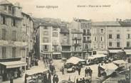 """12 Aveyron .CPA FRANCE 12 """"  St Affrique, Marché,  place de la Liberté"""""""
