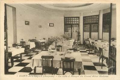 """.CPA FRANCE 12 """"  St Affrique, Grand hôtel moderne, la salle à manger"""""""