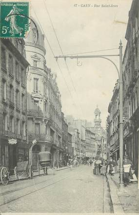 ".CPA FRANCE 14 ""Caen, Rue St Jean"""
