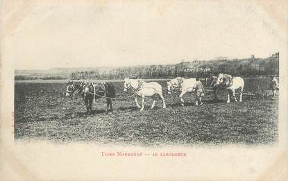 """.CPA  FRANCE 14 """"Typees Normand, Le laboureur"""" / FOLKLORE"""