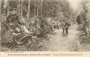 """02 Aisne CPA  FRANCE 02 """"Foret de Villers Cotteret, convoi d'automobiles allemandes incendié"""""""