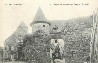 ".CPA  FRANCE 15 ""Brageac, Ruines du monastère"""