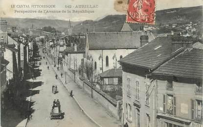 """.CPA  FRANCE 15 """"Aurillac, Perspective de l'avenue de la République"""""""