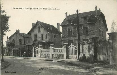 """CPA FRANCE 77  """"Faremoutiers, avenue de la gare"""""""