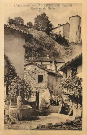 ".CPA FRANCE 15 ""Laroquebrou, Quartier du Merle"""