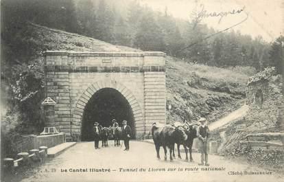 """.CPA  FRANCE 15 """"Le Lioran, Le tunnel sur la route nationale"""""""