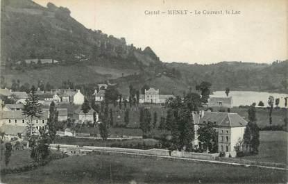 """.CPA FRANCE 15  """"Menet, Le couvent, le lac"""""""
