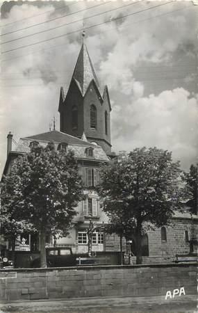 """.CPSM FRANCE 15   """"Neuveglise, L'église et la Poste"""""""