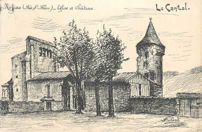 """.CPA FRANCE 15   """"Roffiac, Eglise et Château"""""""