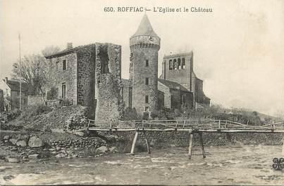 """.CPA FRANCE 15   """" Roffiac, L'église et le château"""""""