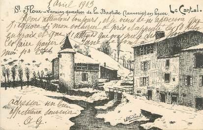 """.CPA FRANCE 15   """" St Flour, Ancien quartier de la Bastide"""""""