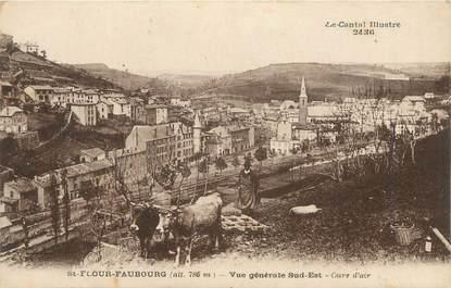 """.CPA FRANCE 15   """" St Flour-Faubourg, Vue générale Sud-Est"""""""