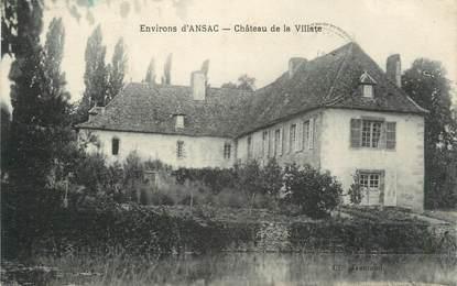 """.CPA  FRANCE 16  """" Environs d'Ansac, Château de la Villate"""""""