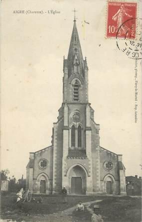 ".CPA FRANCE 16  ""Aigre, L'église"""