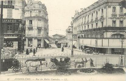 Cpa france 16 angoul me rue des halles centrales 16 for Plan angouleme 16