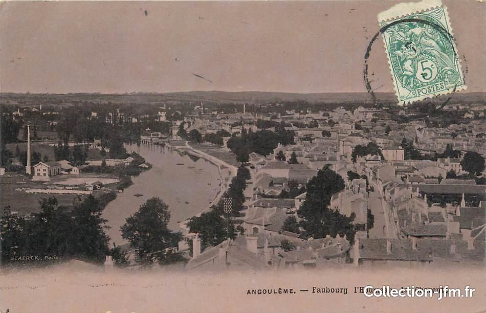 Cpa france 16 angoul me faubourg l 39 houmeau 16 for Plan angouleme 16