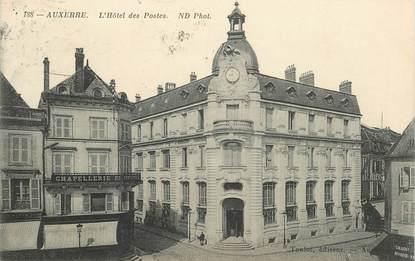 "CPA FRANCE 89 ""Auxerre, Hotel des Postes"""