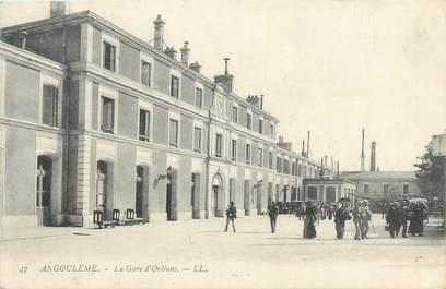 """.CPA FRANCE 16  """"Angoulème, La gare d'Orléans"""""""